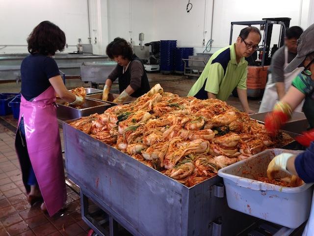 2000 pounds of kimchi.
